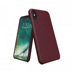 Trefoil Leather Case for iPhone X/Xs