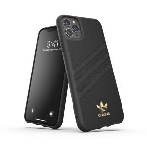 3-Stripes Leather Snap Case for iPhone 11 Pro Max black
