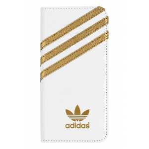 3-Stripes Booklet Case White/Gold iPhone