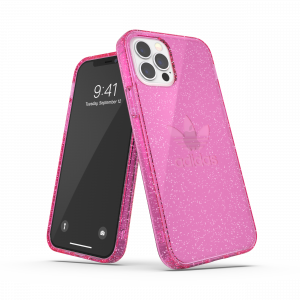 Protective Pink Clear Case Glitter