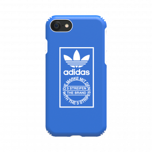 Trefoil Hard Cover Blue / White for iPhone