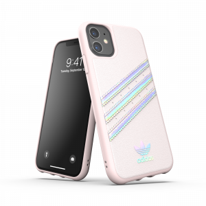 3-Stripes Holographic Snap Case Pink