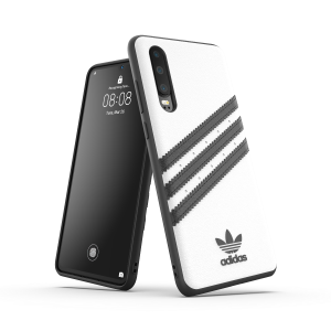 3-Stripes Snap Case White / Black Huawei